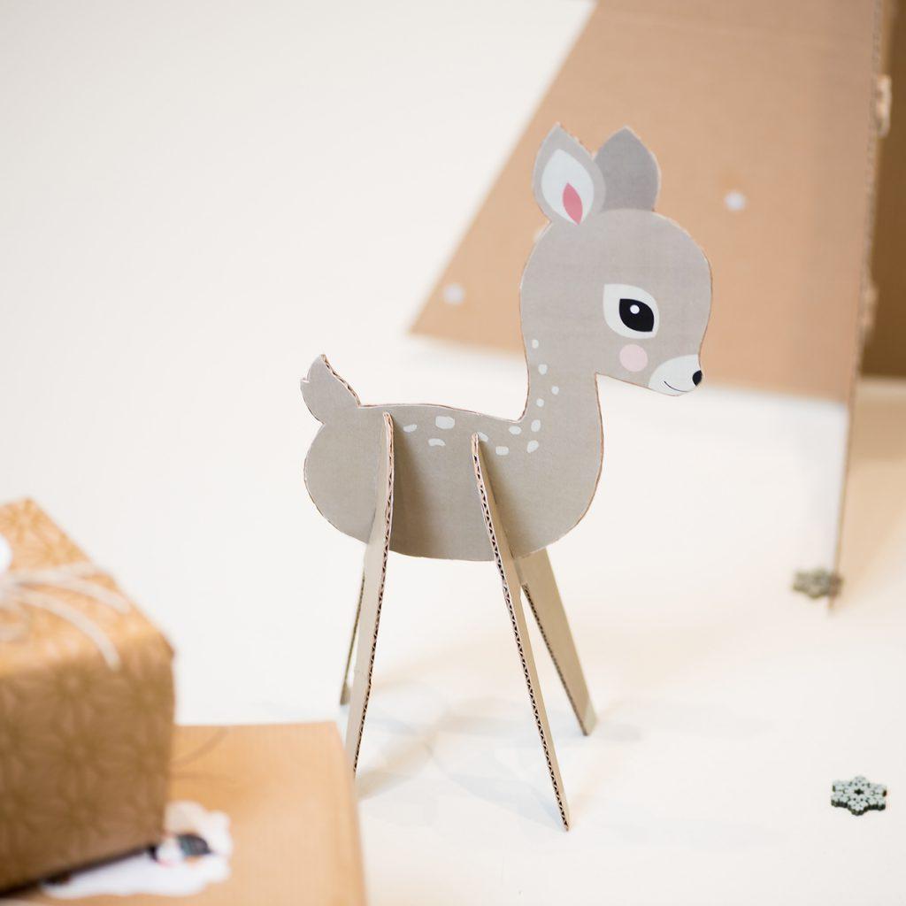 diy printable cerf en carton à fabriquer