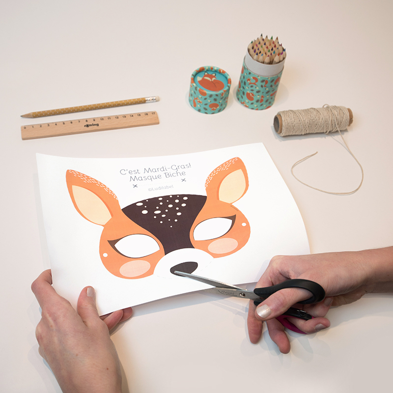 DIY Printable Masque Animaux en papier Carnaval