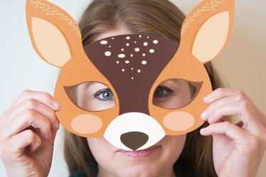 DIY Printable Masque Animaux en papier Carnaval