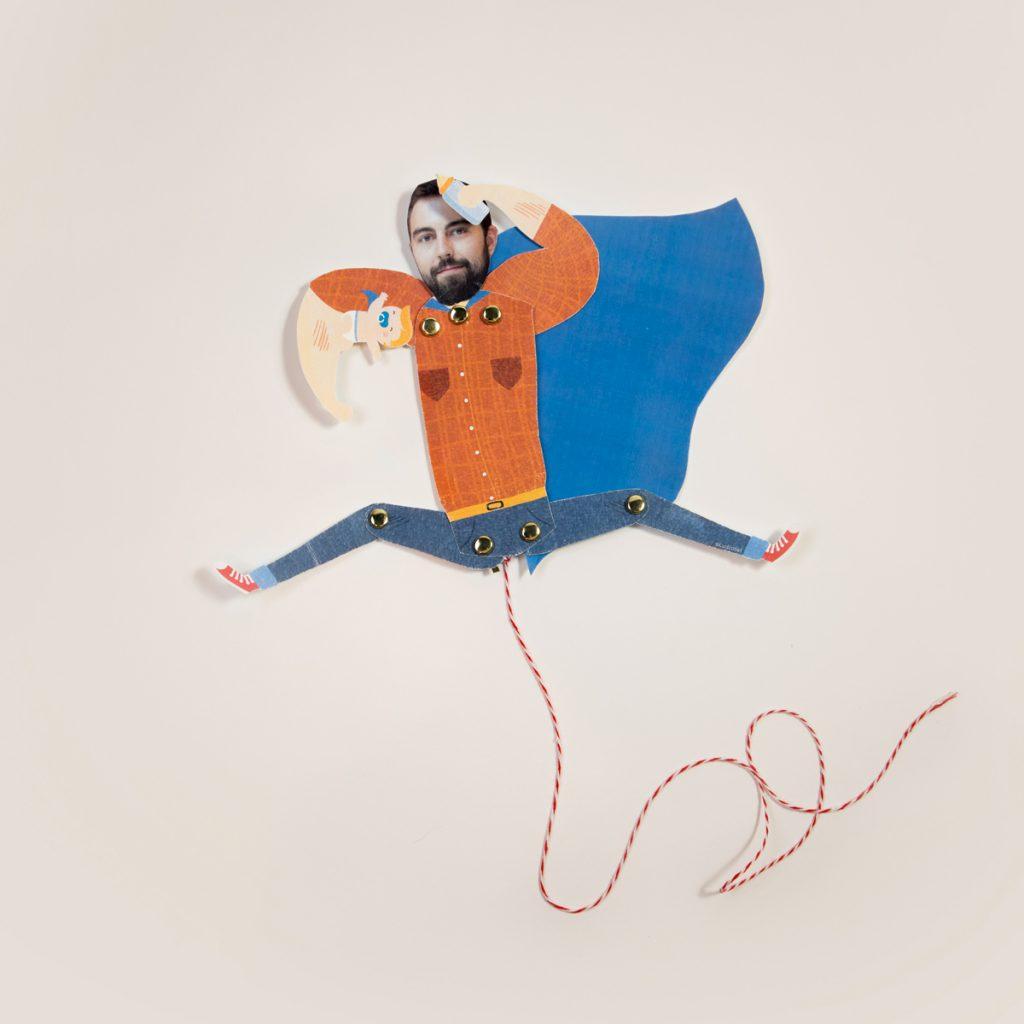 DIY Printable Figurine Amovible Super Papa