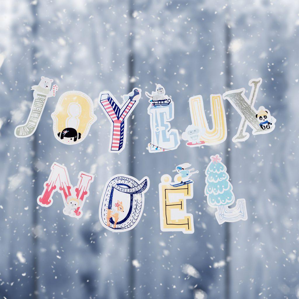 DIY Printable Guirlande de Noël avec lettres
