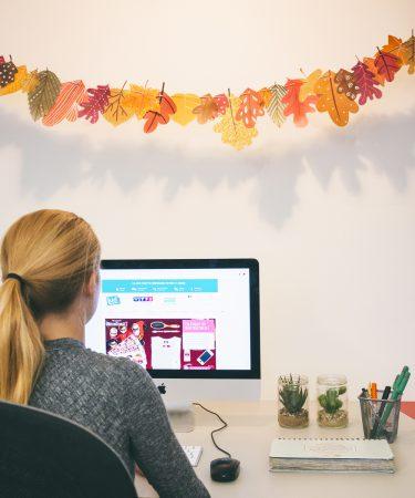 DIY Printable guirlande en papier de l'automne