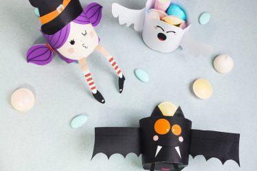 DIY Printable Petits Pots pour les bonbons d'Halloween