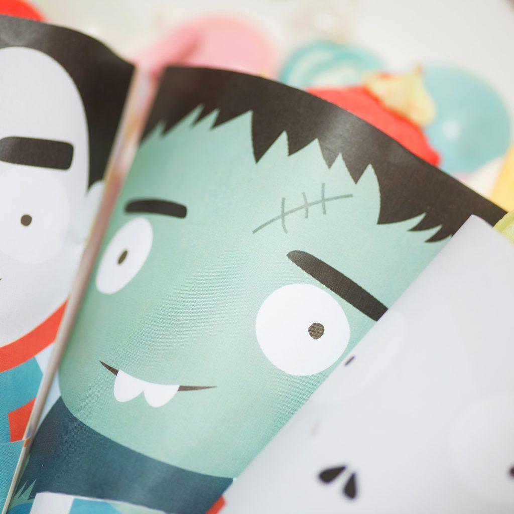 DIY Printable d'halloween, petits sacs en papier pour les bonbons