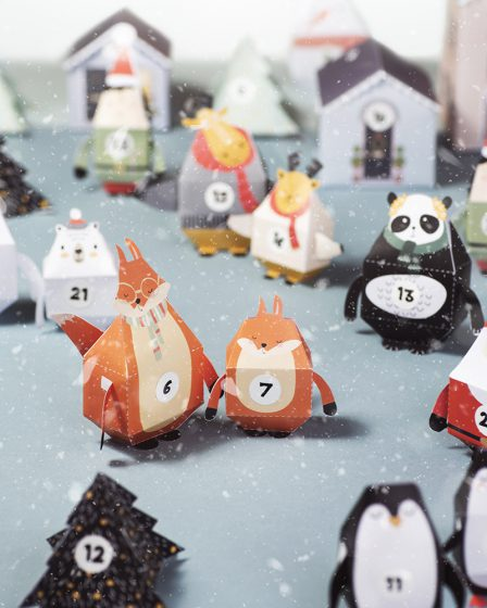 Village de Noël à imprimer