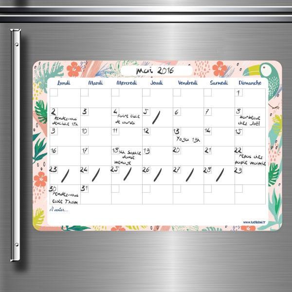 Planning organiseur magnétique pour frigo -  idées cadeaux Ludilabel
