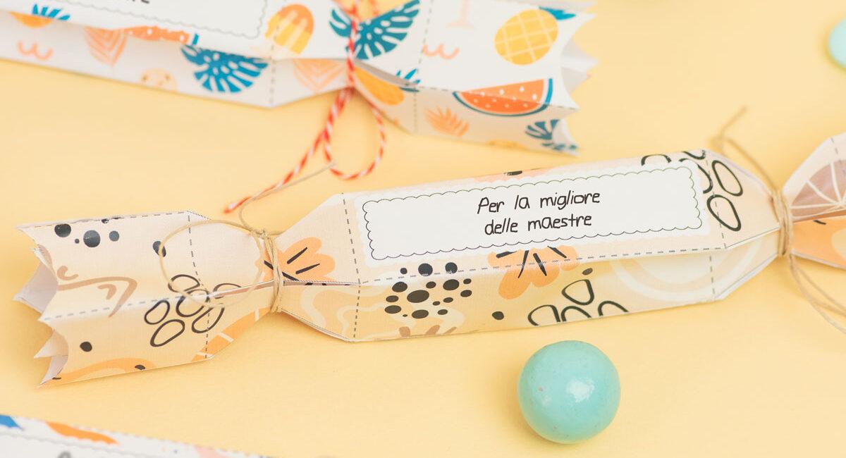 Cracker sorprese per ringraziare maestre e insegnanti!